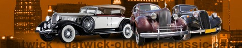 Vintage car Gatwick | classic car hire | Limousine Center UK